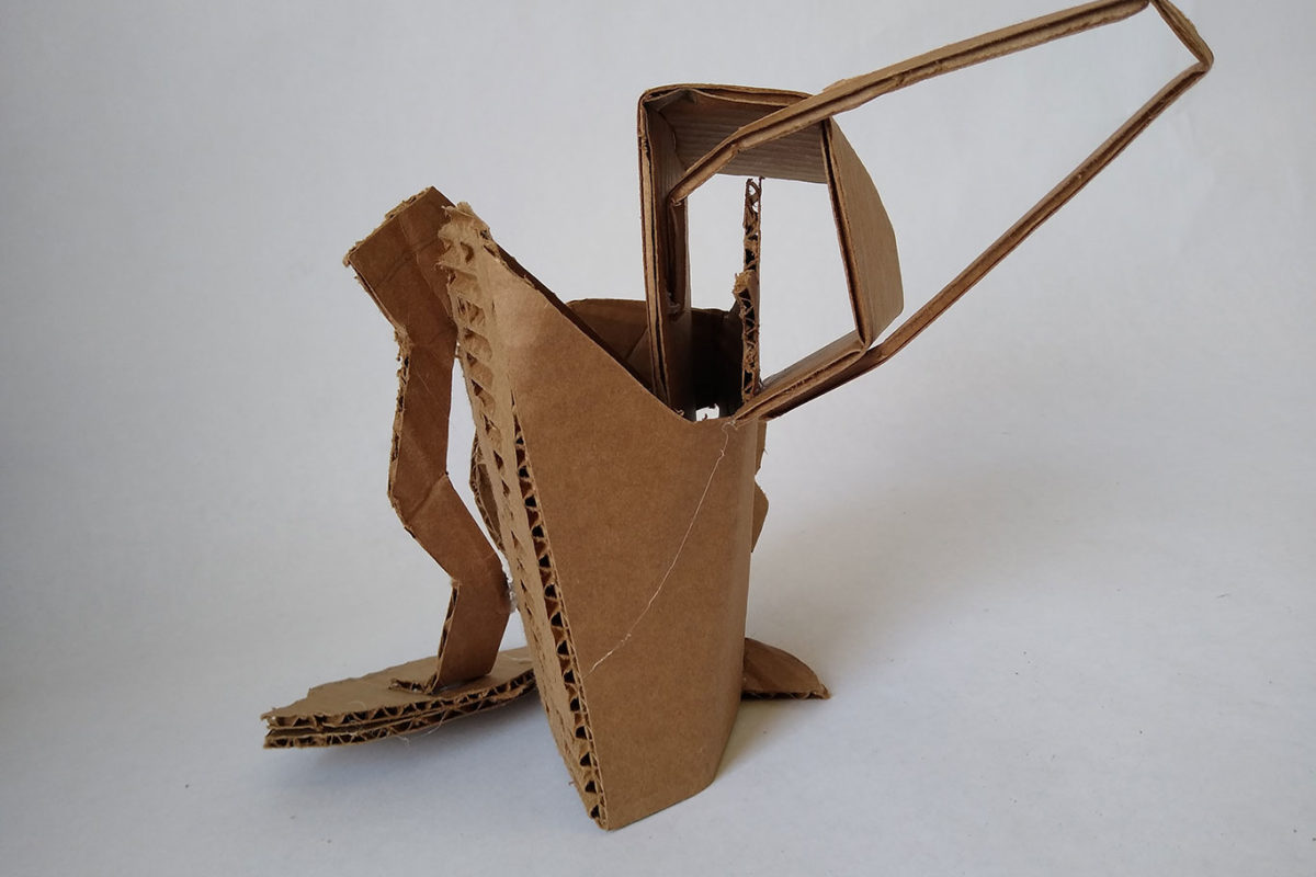 Cardboard Sculpture, Darinka Arones