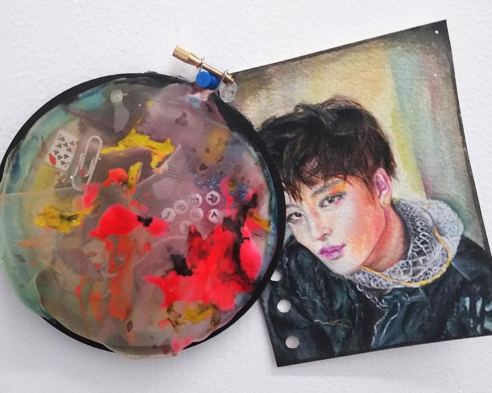 Mixed Media Drawing, Darinka Arones