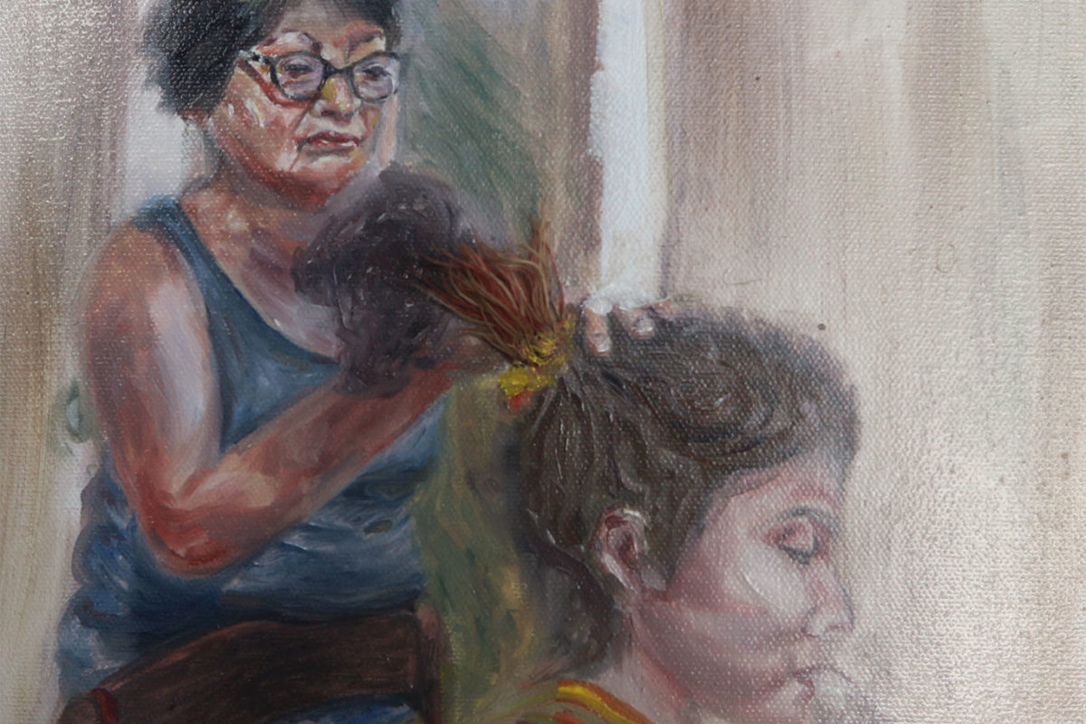 Portrait Painting, Darinka Arones