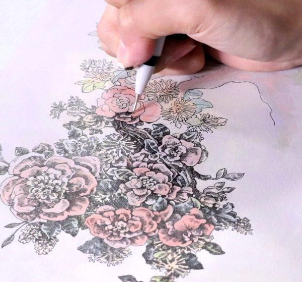 Pen, ink, and marker drawing, Song Kang
