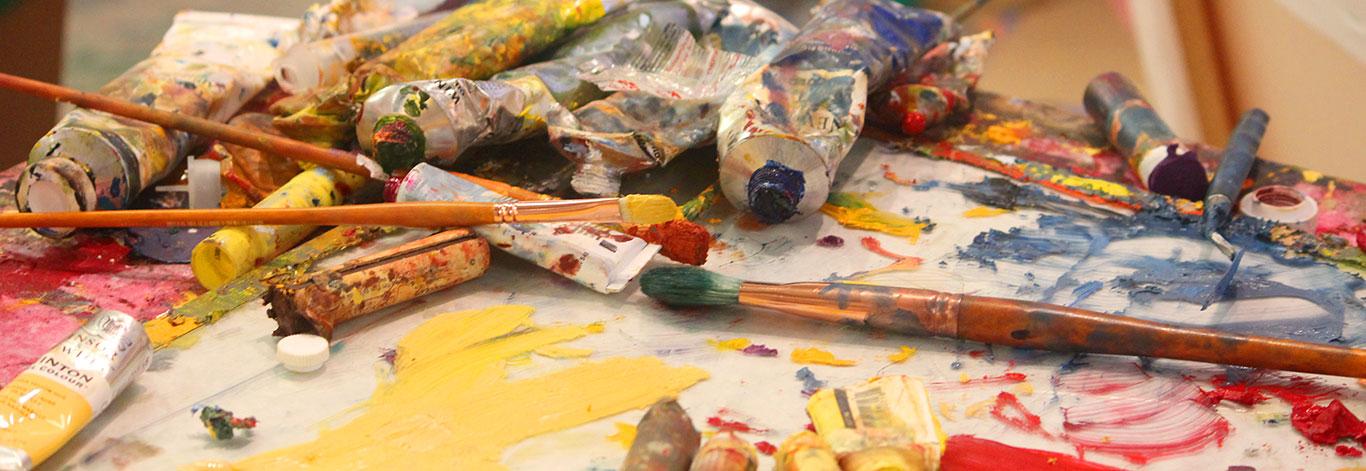 Artist Painting Studio