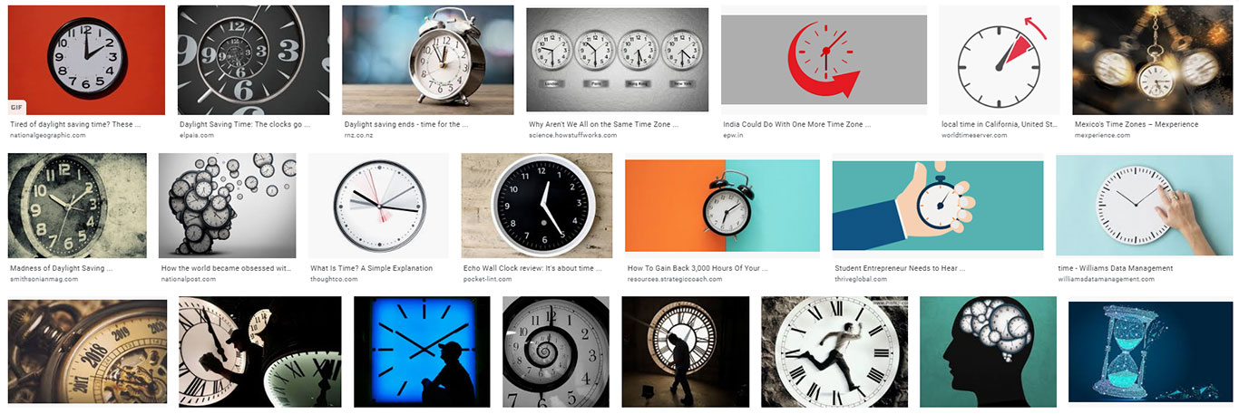 Cliche Images of Time from Google Image Search