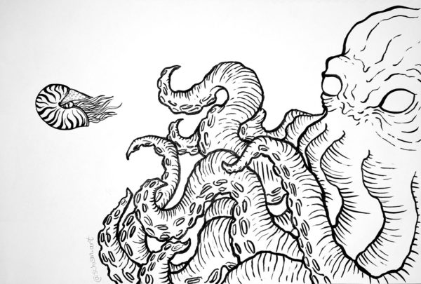 Pen Drawing, Leah Gharbaharan