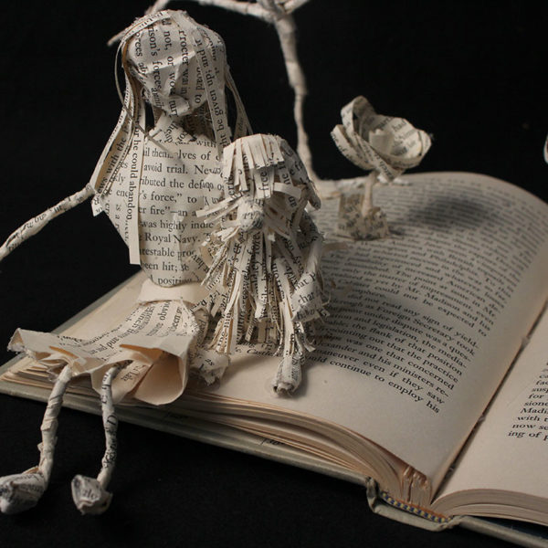 Recycled Book Sculpture