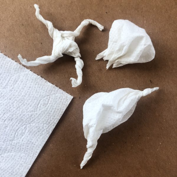 Toilet Paper Sculptures