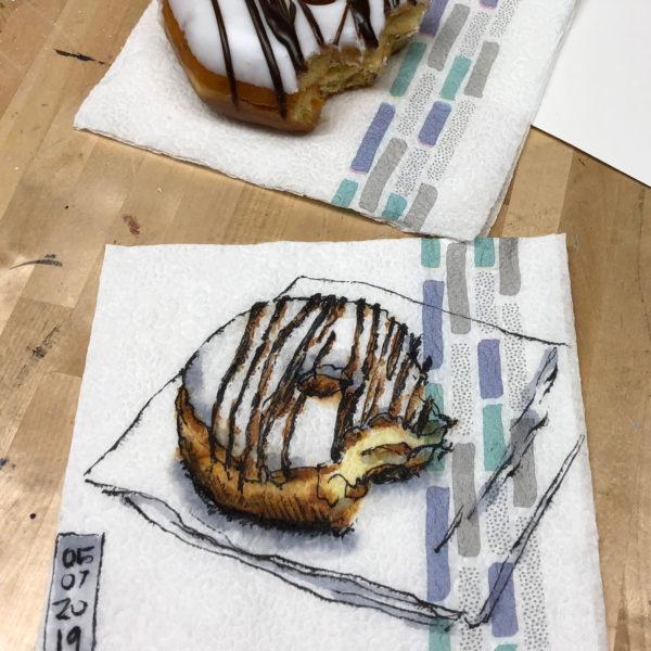 Napkin Drawing, Suzy Hughes