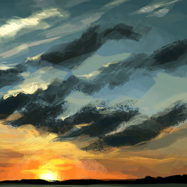 Digital Sky Painting, Mia Rozear