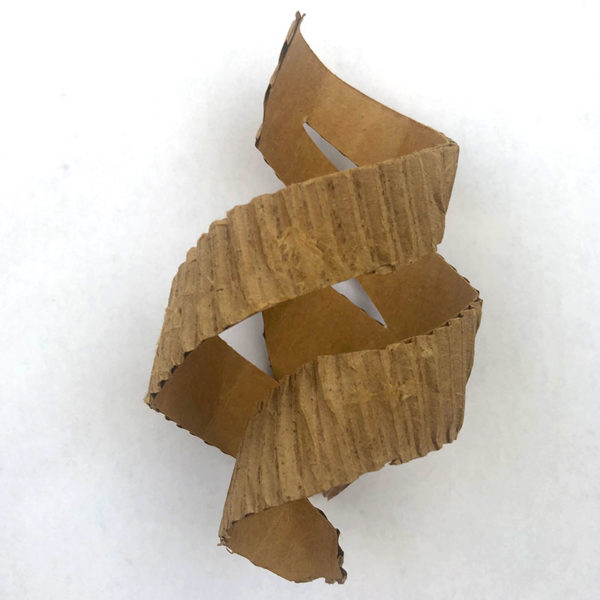 Corrugated Cardboard Sculpture, Kira Held
