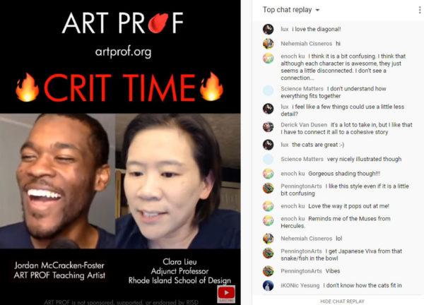 Art Prof, YouTube live video