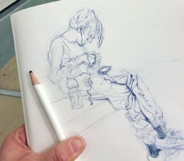 Gesture Drawing, Clara Lieu