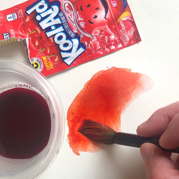 Painting with Kool-Aid