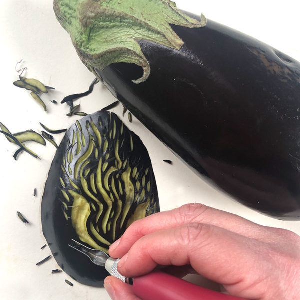 Carving an Eggplant