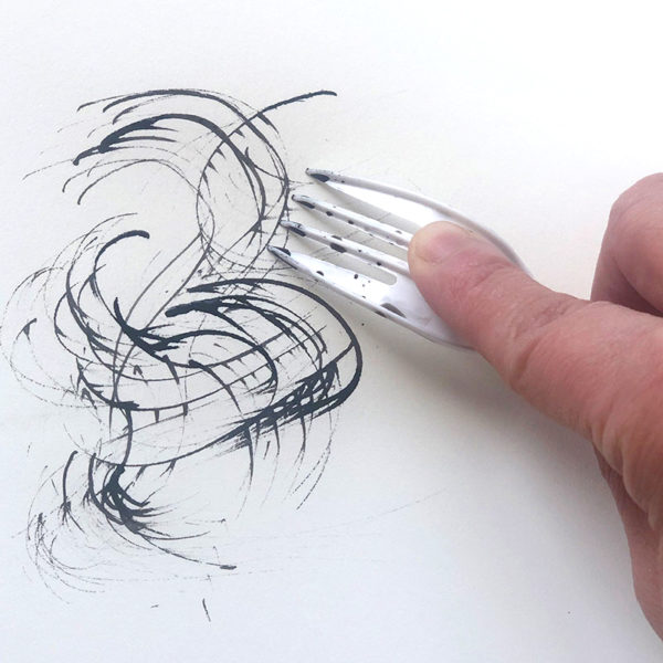 Drawing with a Fork and Ink