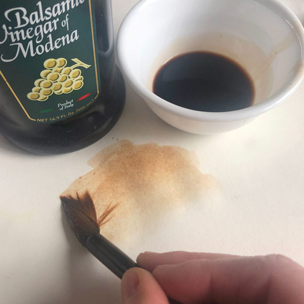 Home Art Supplies: Painting with Balsamic Vinegar