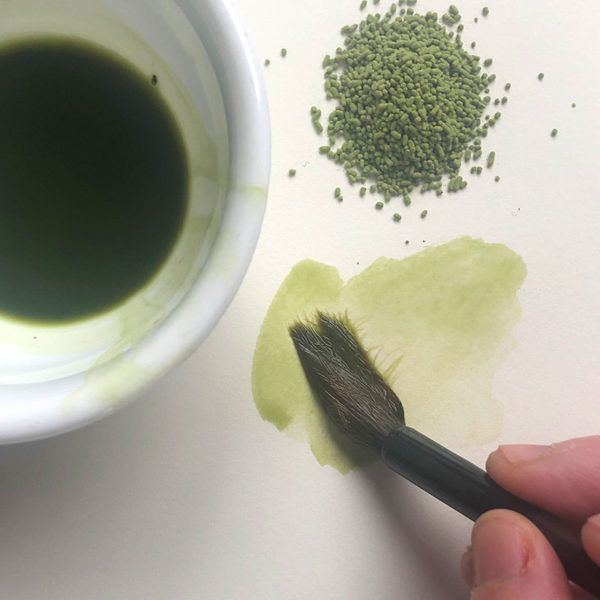 Home Art Supplies: Painting with Matcha Powder