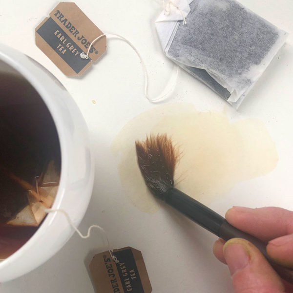 Home Art Supplies: Painting with Tea