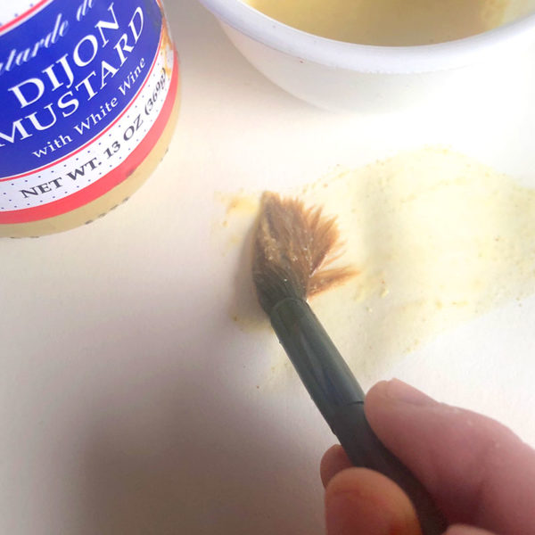 Home Art Supplies: Painting with Mustard