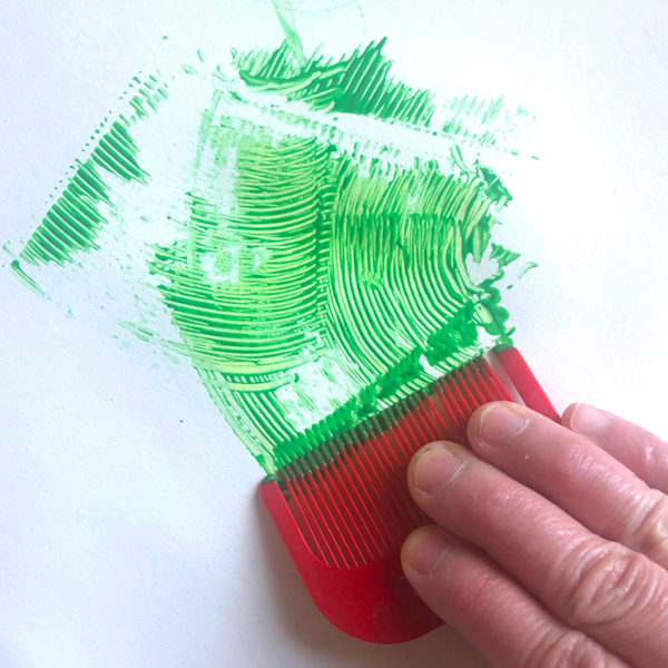 Home Art Supplies: Painting with a Comb