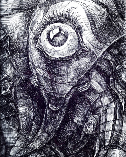 Jackie Li, Ballpoint Pen Drawing