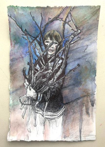 Jena Schieb, Ballpoint Pen Drawing