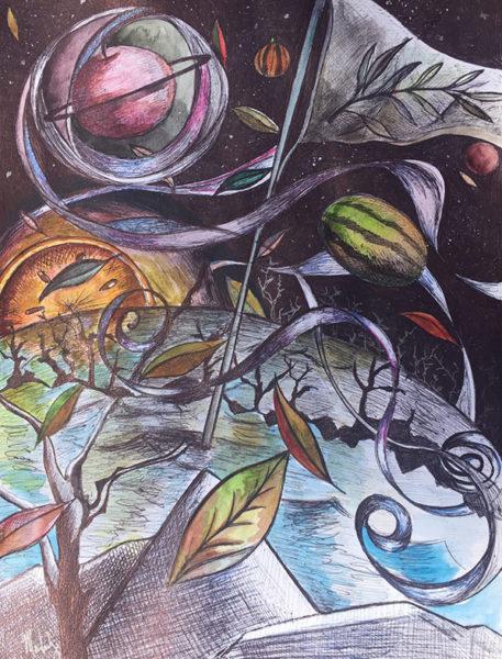 Madeline Bedrosian, Ballpoint Pen Drawing