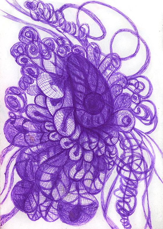 Dharshi de Silva, Ballpoint Pen Drawing