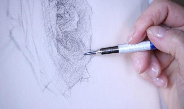 Kathleen Speranza, pencil drawing