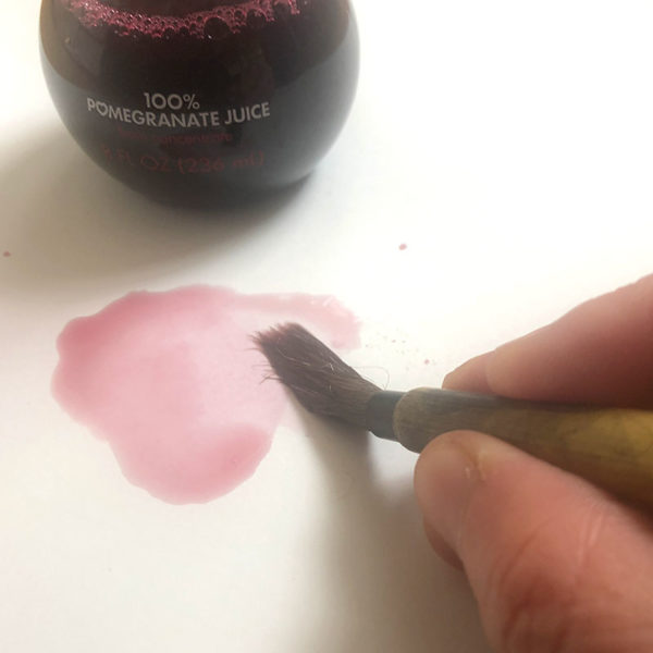 Home Art Supplies: Painting with Pomegranate Juice