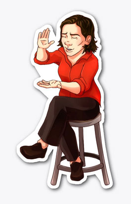 Prof Lieu Sticker