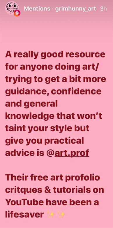 Art Prof Testimonial