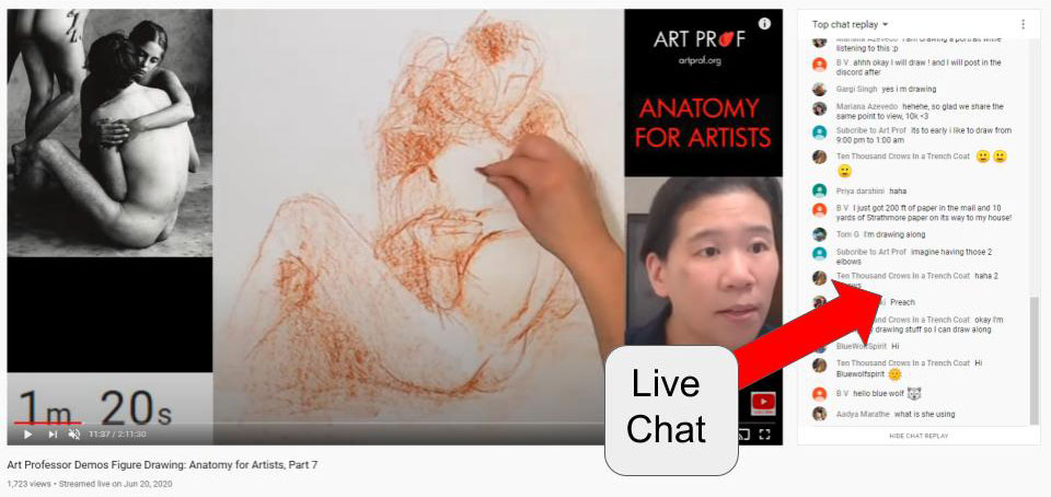 YouTube Live Art Demo with OBS