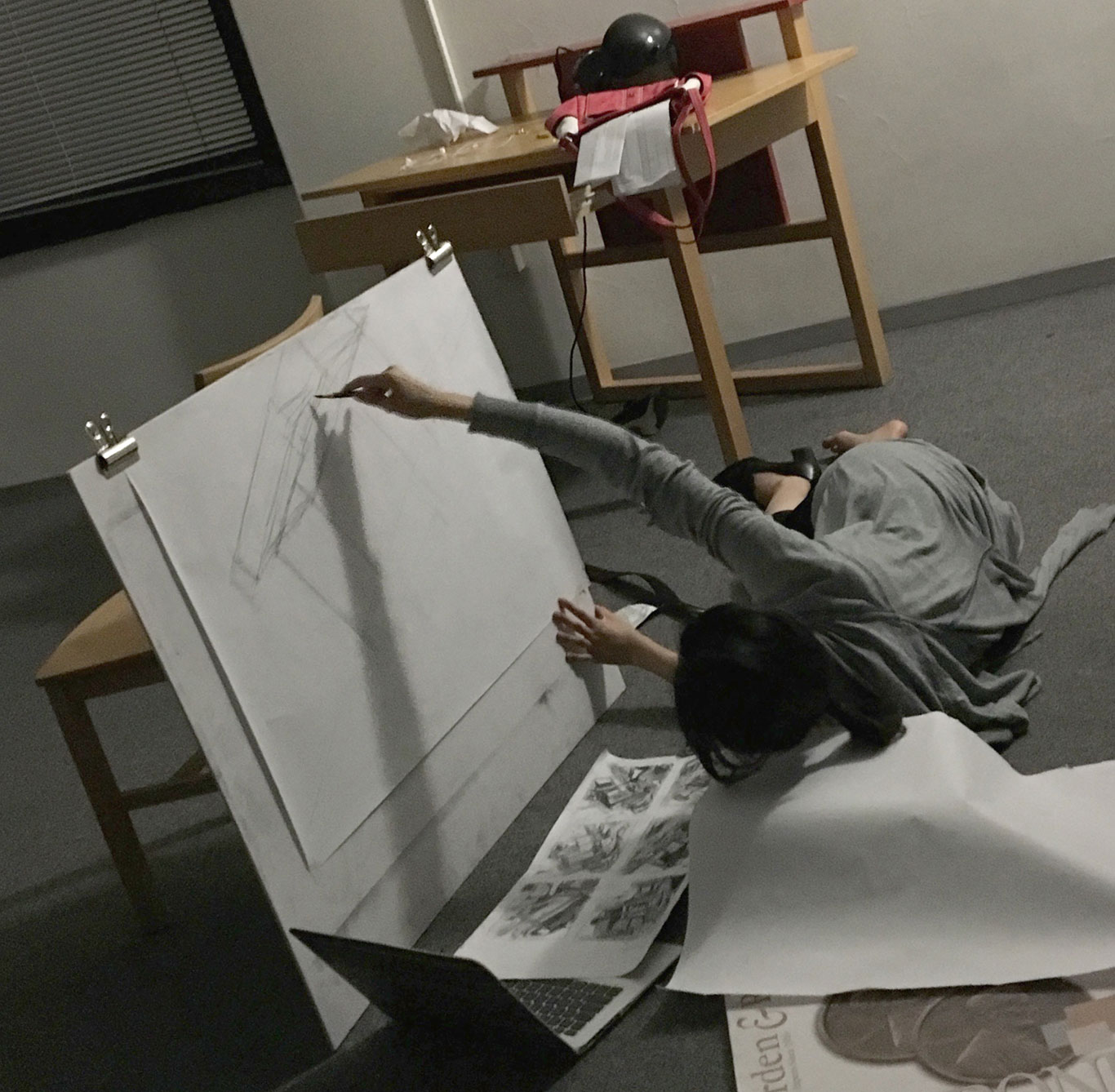 Charcoal Drawing, Cat Huang