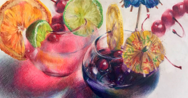 Colored Pencil Still Life, Clara Lieu