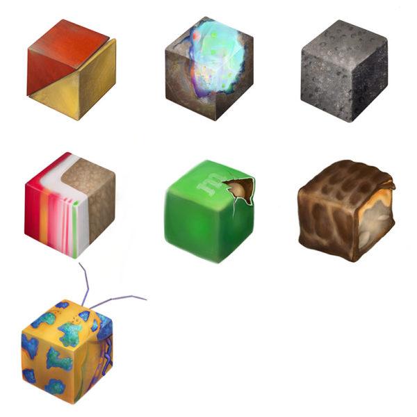 Digital Painting: Texture Cubes, Hyeji Kim