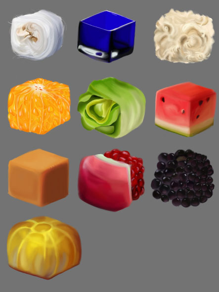 Digital Painting: Texture Cubes, Julie Gillis