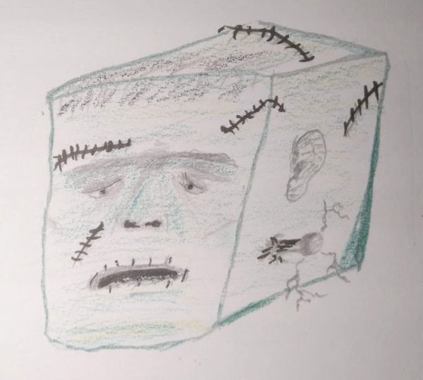 Texture Cube Drawing, Tom Gilley