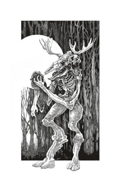 Creatures of Myth, Pen & Ink Drawing, Song Kang