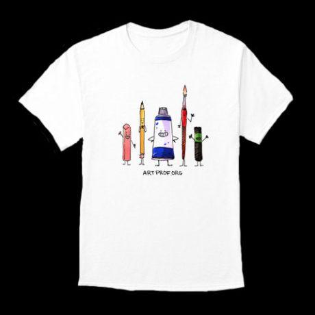 Art Prof Merch: Art Supplies T-Shirt