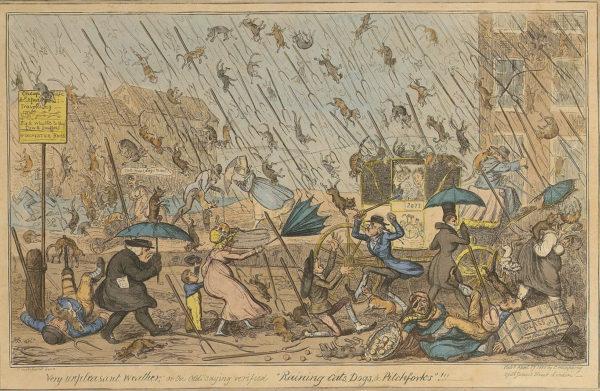 GEORGE CRUIKSHANK Very unpleasant weather, 1820