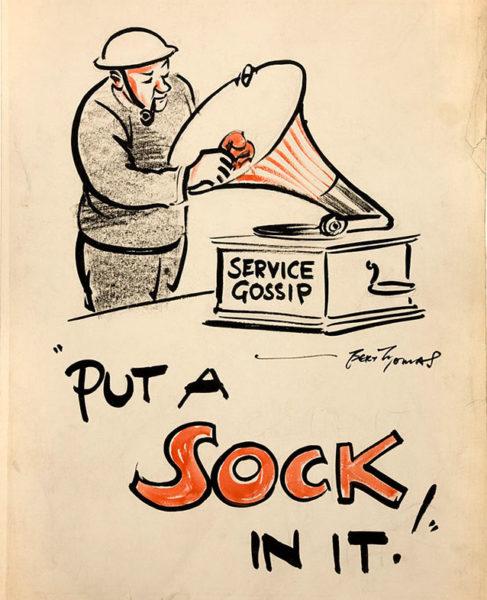 """Put a sock in it!"" by Bert Thomas"