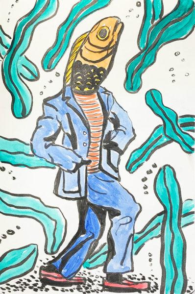 Jason Dai, Marker & Watercolor Drawing