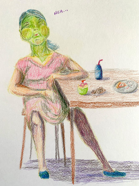 Carol Avila, Colored Pencil Drawing