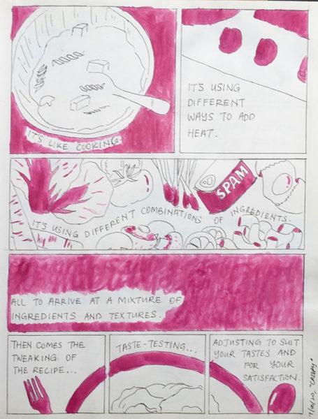 Erica Yong, Watercolor & Pen Comic
