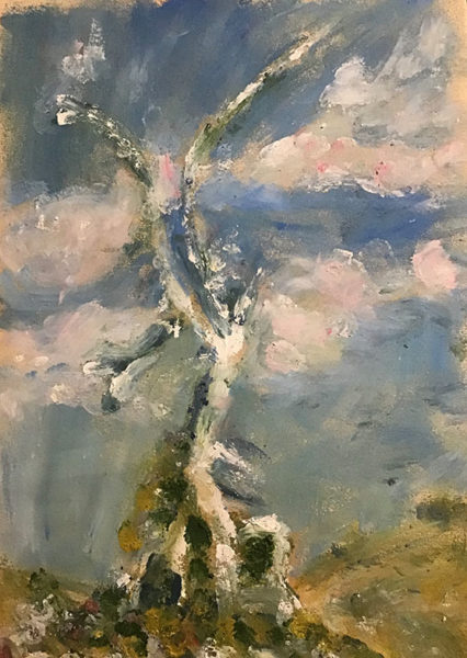 Priya Amargi, Oil Pastel Drawing