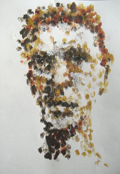 Mel Smith, acrylic painting