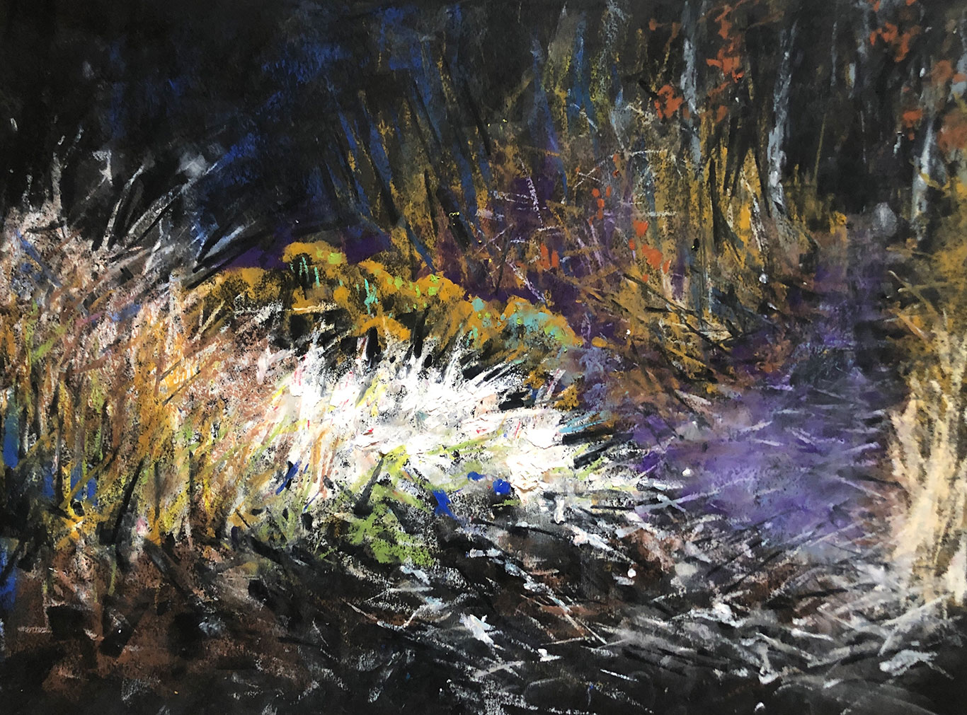 Oil Pastel Landscape Drawing, Clara Lieu