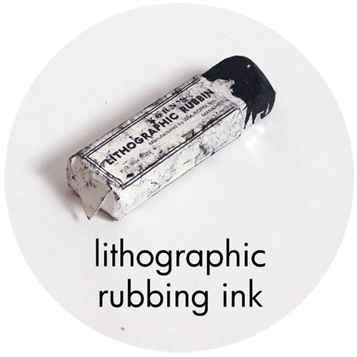 Art Supplies: Lithographic Rubbing Ink