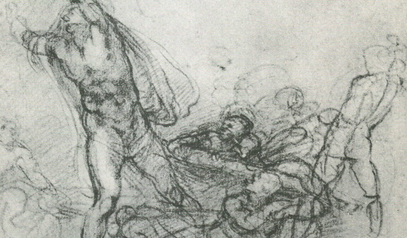 Chalk Drawing by Michelangelo