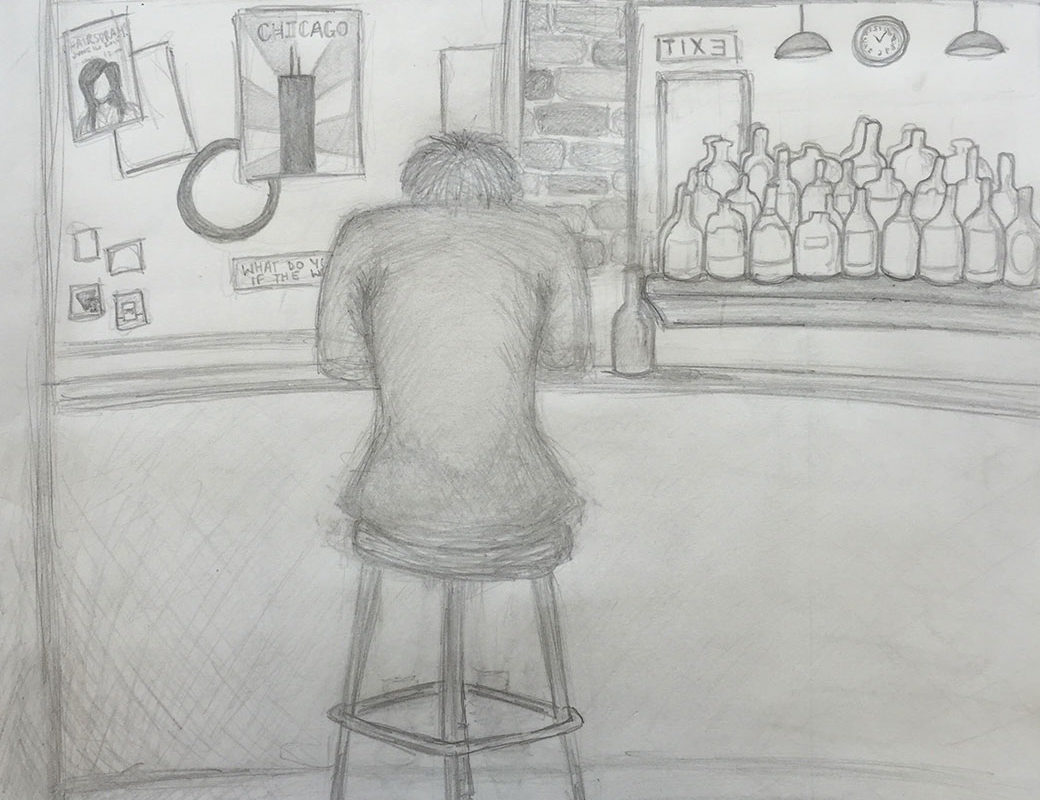 Pencil Drawing by a Student at Millis High School
