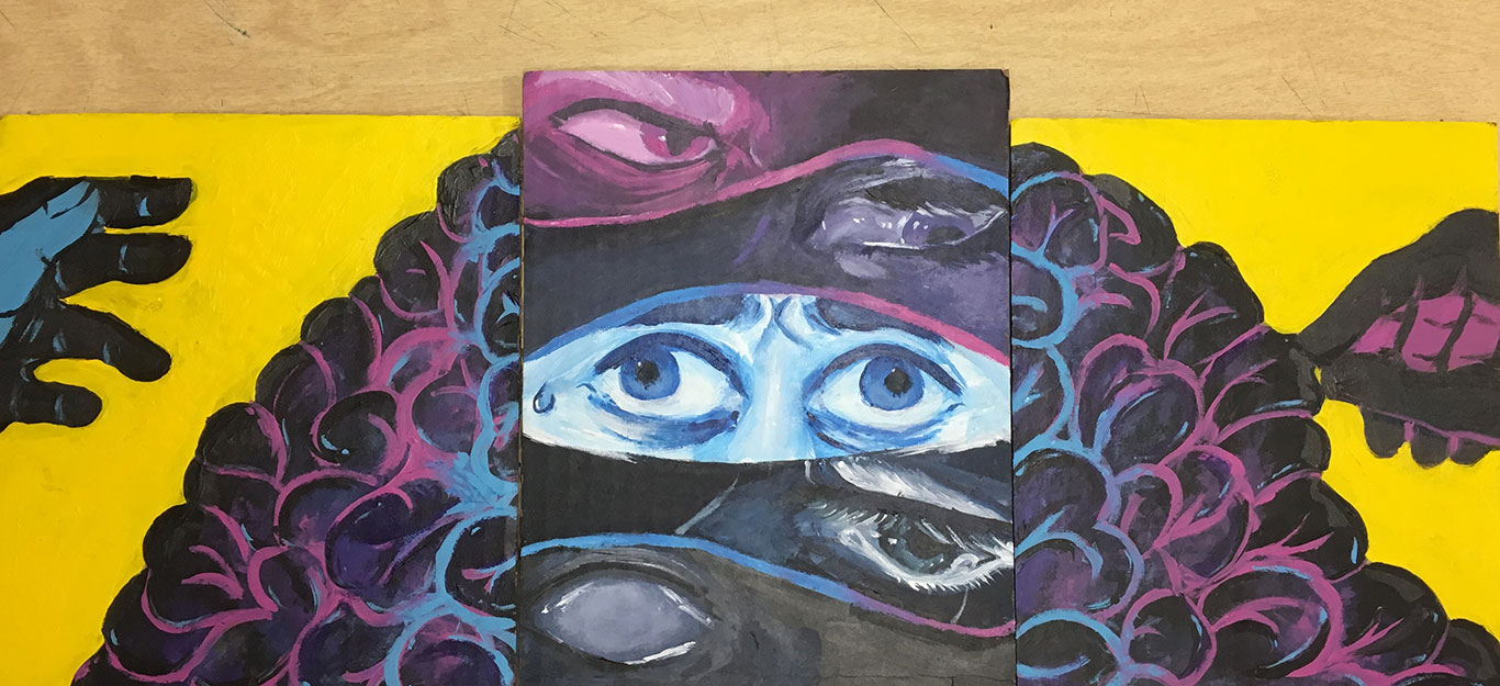 Acrylic Painting by El Haynes High School Student